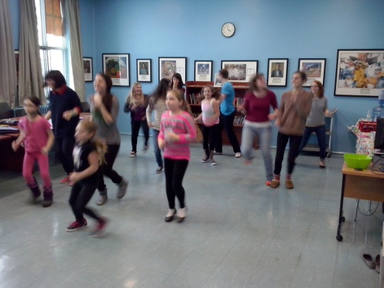 Fun during the Zumba workshop at Riverview